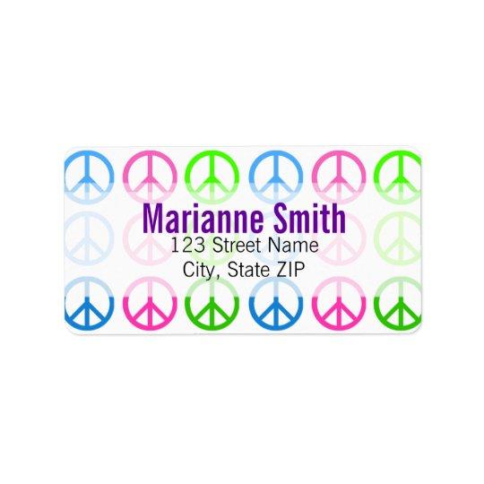 Peace Address Label