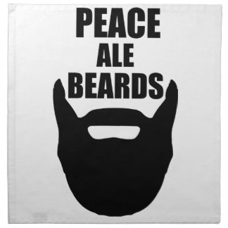 Peace Ale Beards Napkin