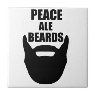 Peace Ale Beards Tile