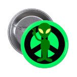 peace alien button