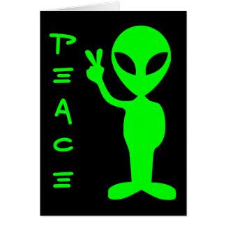 Peace Alien Card