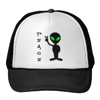 Peace Alien Trucker Hats