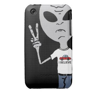 Peace Alien iPhone 3 Case