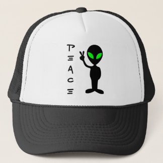 Peace Alien Trucker Hat