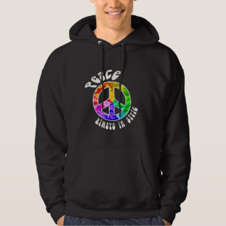 Peace: Always in Style Dark Hoodies