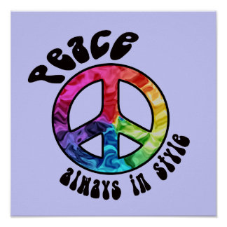 Peace Always in Style Poster