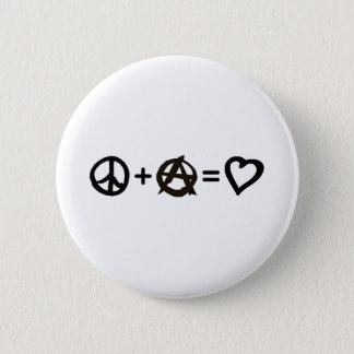 Peace + Anarchy = Love 6 Cm Round Badge