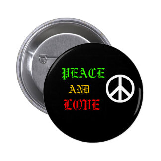 Peace and coils in world 6 cm round badge