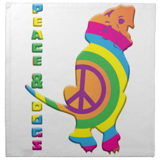 Peace And Dogs Funny Napkin
