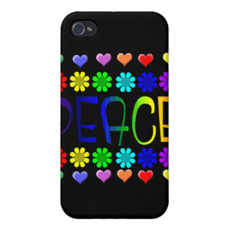 Peace and Flowers Cover For iPhone 4
