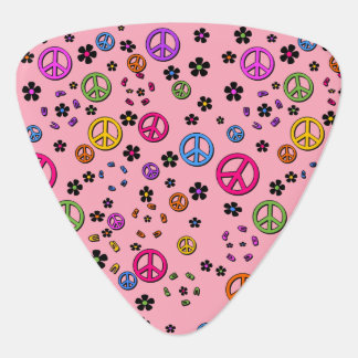 Peace and FLowers Plectrum