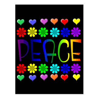 Peace and Flowers Postcard