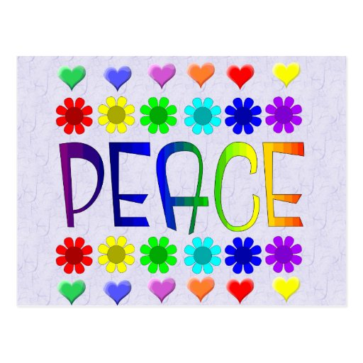 Peace and Flowers Post Cards