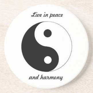 PEACE AND HARMONY coaster