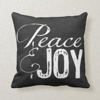 Peace and Joy Pillow, Christmas Pillow, Rustic Throw Pillow