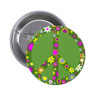 Peace and Love 6 Cm Round Badge