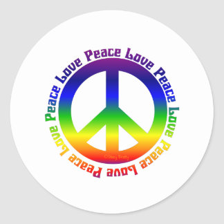 Peace and Love all around Sticker