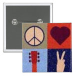 Peace and love. button