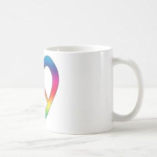 Peace and Love Classic White Coffee Mug