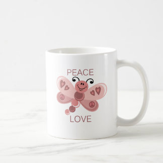 PEACE AND LOVE DRAGONFLY MUGS