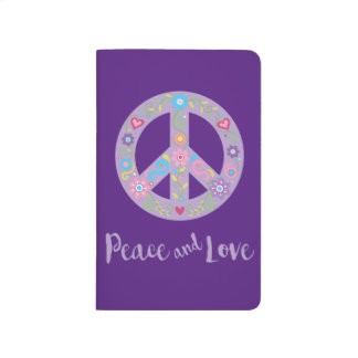 Peace and Love Floral Peace Sign Journals
