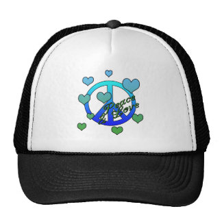 Peace and Love Mesh Hats