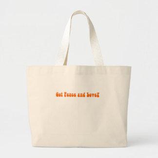 Peace and Love in Paia Maui Jumbo Tote Bag