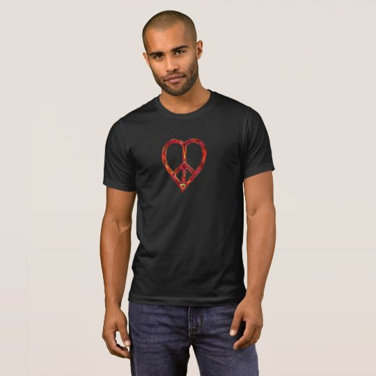 peace and love (metallic look) T-Shirt
