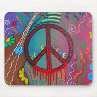 Peace and Love Mouse Pad