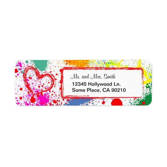 Peace and Love Paint Splatter (customisable)
