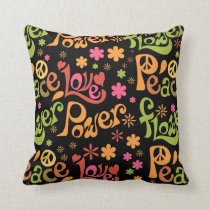 Peace and Love Pattern Cushion