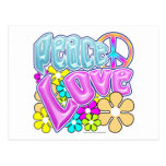 Peace And Love Postcards