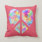 Peace and Love Sign Cushion
