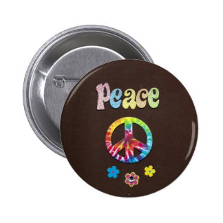 Peace and Love, the Sixties. 6 Cm Round Badge
