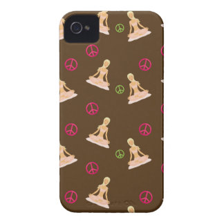 Peace and Yoga Blackberry Case - Brown