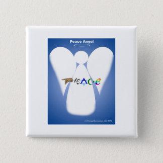 Peace Angel 15 Cm Square Badge