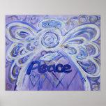 Peace Angel Art Poster Print
