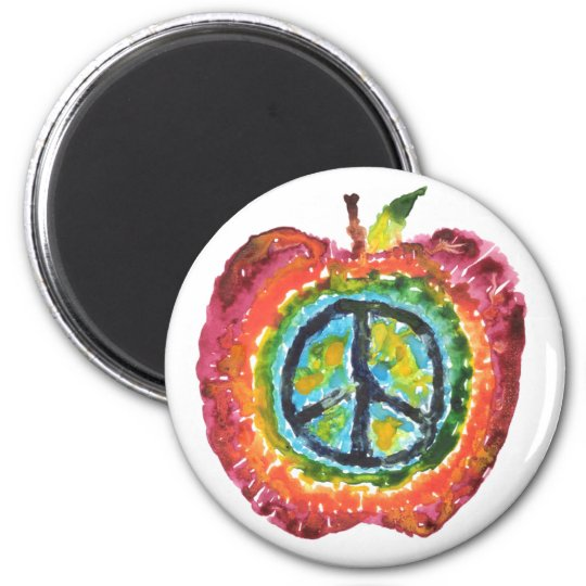 Peace Apple Magnet