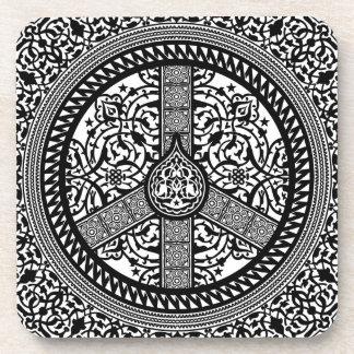 Peace Arabesque Cork Coaster