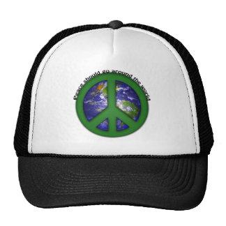 Peace around the world trucker hat