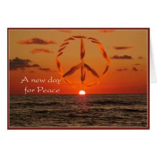 peace at sunrise card