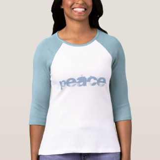 Peace (baby blue) t shirts