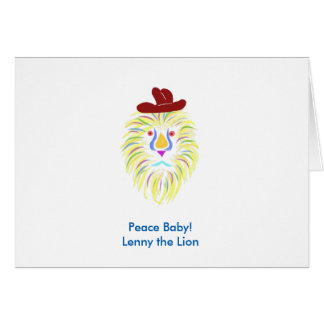 Peace Baby! Lenny the Lion note cards