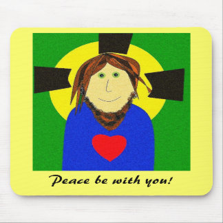 Peace Be With You Mouse Pad