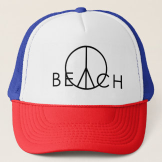 peace beach trucker hat