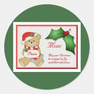 Peace Bear Round Sticker