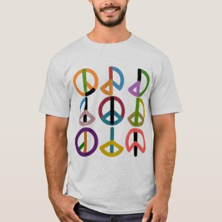 Peace Beat / Men's Basic T-Shirt, White