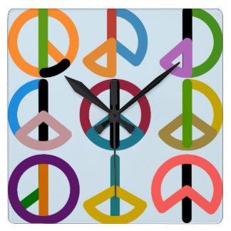 Peace Beat / Square Wall Clock