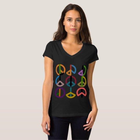 Peace Beat / Women's Bella Jersey V-Neck T-Shirt