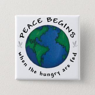 Peace Begins 15 Cm Square Badge